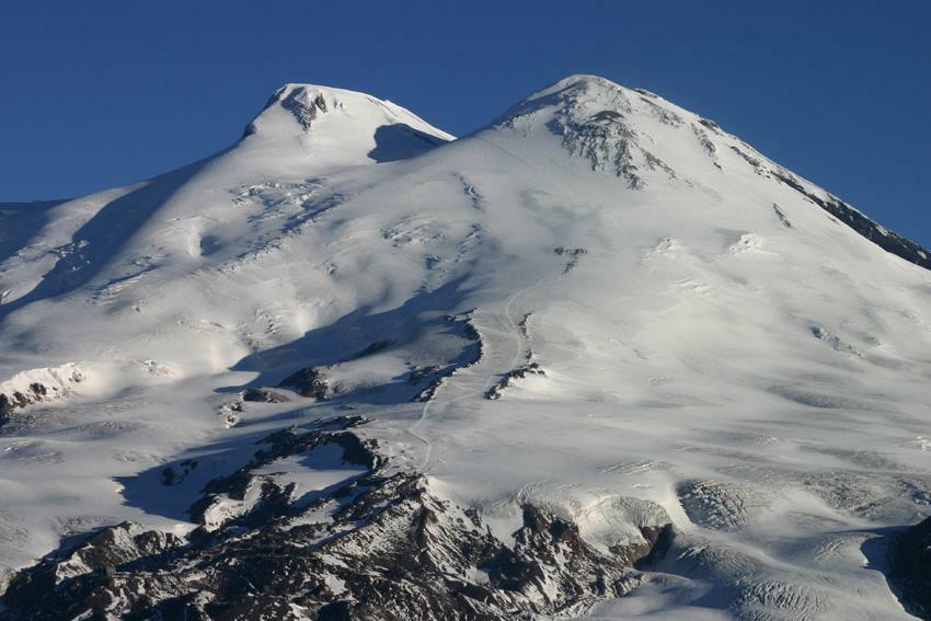 Mount Elbrus M On The Google Map Mountaineering Trekking - Mt elbrus map