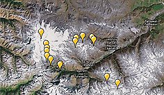 Elbrus on map